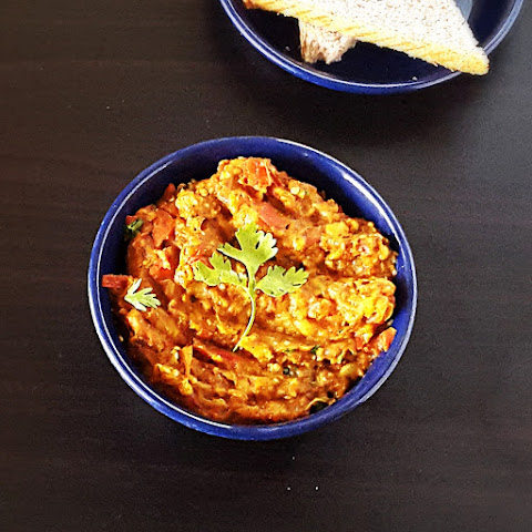 Baingan bharta recipe - Smoky spiced mashed eggplant