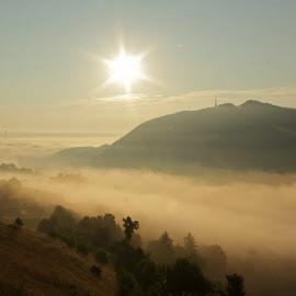 Morning fog . by Comsa Bogdan - Landscapes Weather ( mountain, romania, travel, landscape, photography, sun, city, brasov, sky, gorgeous, comsa bogdan, wonder, weather, wonderful, hill, beautiful, fun, morning, photo, amazing, foggy, frame, fog, landscape photography, braşov, sunrise, romania prin obiectiv )