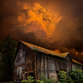 Reclusive by Phil Koch - Buildings & Architecture Other Exteriors ( vertical, summer. spring, photograph, environement, farmland, yellow, storm, leaves, love, nature, barn, autumn, flowers, orange, twilight, agriculture, horizon, myhorizonart, portrait, winter, national geographic, serene, floral, inspirational, natural light, wisconsin, phil koch, spring, sun, photography, farm, horizons, inspired, clouds, office, green, scenic, morning, field, red, blue, seasons, sunset, fall, peace, meadow, sunrise, earth, landscapes, , time scars )