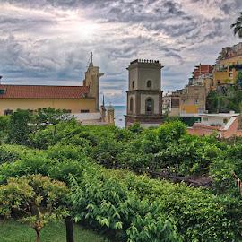 Balcony View by Ann J. Sagel - Landscapes Travel ( positano, amalfi coast, ann j. sagel, italy )