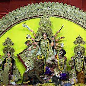 Durga Pooja by Vijay Diksit - Buildings & Architecture Statues & Monuments