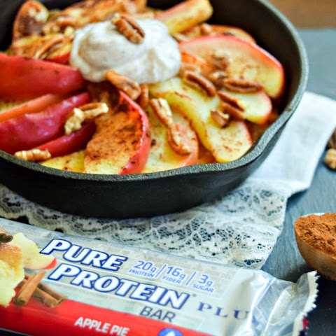 Clean Apple Pie with Protein Bar Crust