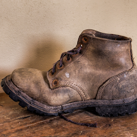 Old boot by Vibeke Friis - Artistic Objects Clothing & Accessories ( old, boot, leather,  )