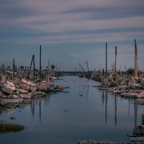 Epecuén Ruins, Argentina by Edi Libedinsky - City,  Street & Park  Historic Districts ( destroyed, ruins, debris, decay, abandoned, water, flood,  )