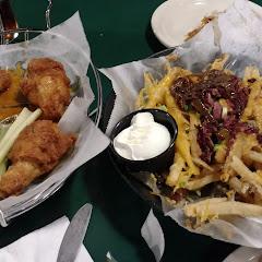 jumbo wings and Irish nachos with corned beef