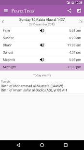 Prayer Times for Lollipop - Android 5.0