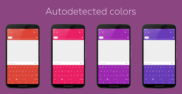 Flat Style Colored Keyboard- screenshot thumbnail