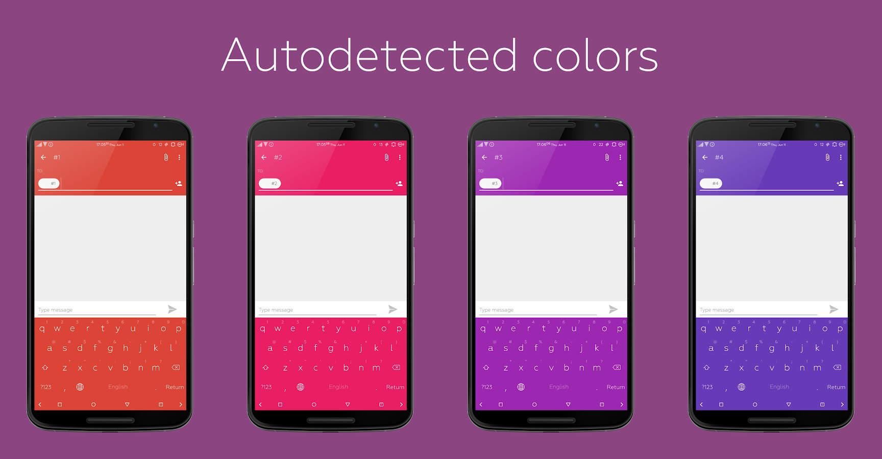 Flat Style Colored Keyboard Screenshot