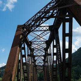 Bridge at Thurmond by Gwen Paton - Buildings & Architecture Bridges & Suspended Structures ( thurmond, railroad tracks, west virginia, bridge, historic )
