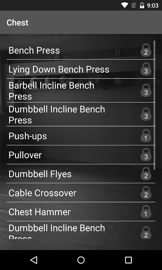 WinGym Exercises Premium Screenshot 1