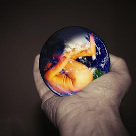 Earth by Ukri Manu - Digital Art People ( art, nature, earth, photoshop, man, body, life, digital art )