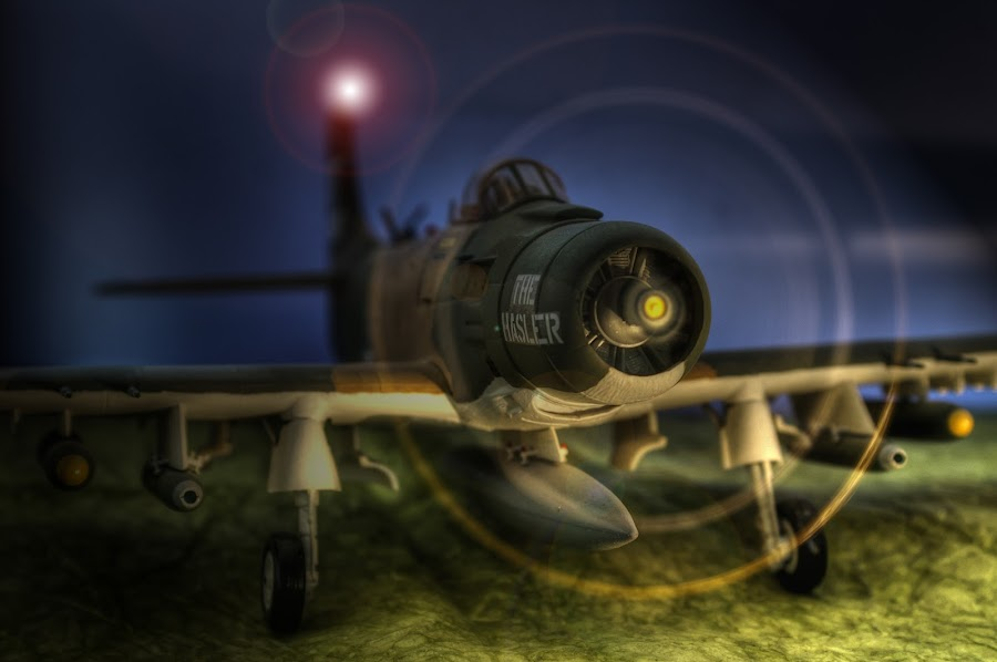 A-1 Skyraider by Alan Perusic - Transportation Airplanes ( da nang, attack airplane, the hasler, skayraider, usaf, a-1, , toy, object, air, transport )