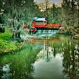 Howard's Mill by Jamie Cowart - Digital Art Places ( mill, south ga, creek, beauty, country )
