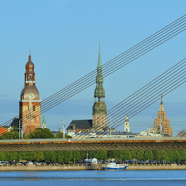 Riga by Tomasz Budziak - City,  Street & Park  Historic Districts ( riga, historic district, latvia, city )