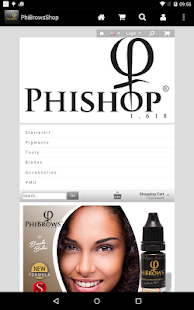 PhiBrows Online Store - screenshot