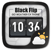Black Flip GO Weather Widget