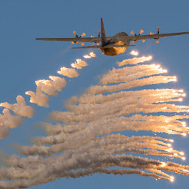 Hercules C-130 Flares by Jacques Blignaut - Transportation Airplanes (  )
