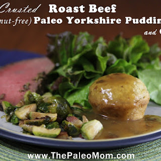 Herb-Crusted Roast Beef with Paleo Yorkshire Puddings and Gravy