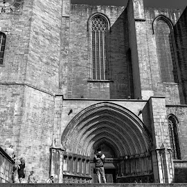 cathedral Girona by Roberto Gonzalo Romero - Buildings & Architecture Places of Worship ( girona, black and white, cathedral )