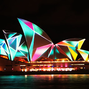 Colourful Opera House, Sydney by Ajay Sharma - Buildings & Architecture Public & Historical