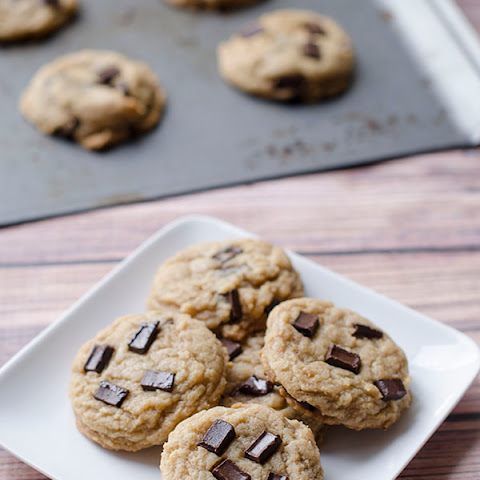 Vegan Peanut Butter Chocolate Chip Coconut Cookies