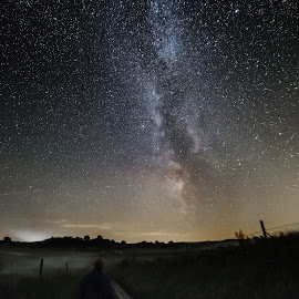 Stargazing  by Jocke Mårtensson - Landscapes Prairies, Meadows & Fields