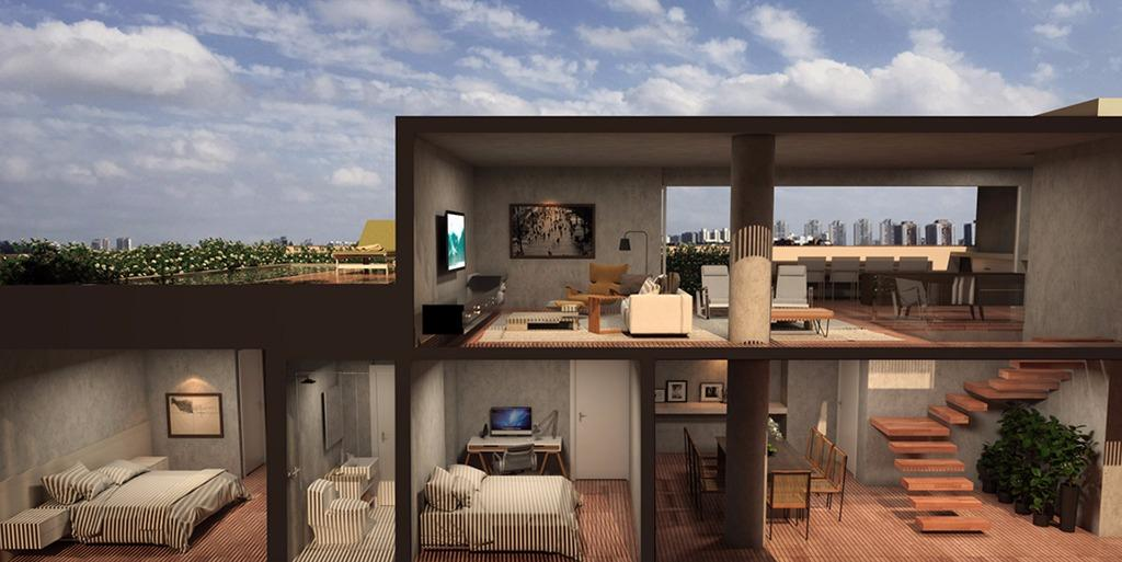 Perspectiva da Cobertura  Duplex