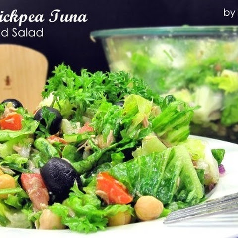Romaine Chickpea Tuna Chopped Salad (for South Beach Phase 1)