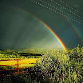 shafts of light by Bruce Newman - Landscapes Prairies, Meadows & Fields ( rainbow, nature, natural light, dramatic, landscape, colorful,  )