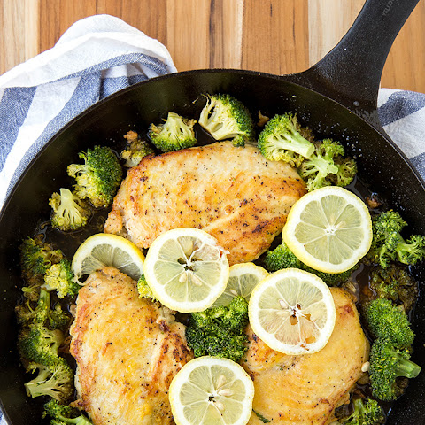 Baked Chicken and Broccoli Skillet
