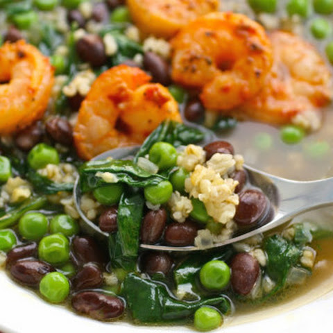Freekeh And Spicy Shrimp Soup