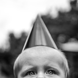 1 Year Old Girl by Jamie Ledwith - Babies & Children Babies ( girl, 1 year old, 50mm, party, hat )