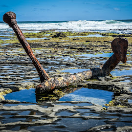 Wreck Beach Anchor by Andrew Stubbings - Landscapes Waterscapes ( iamgreatoceanroad, iam12apostles, cobden, rock pools, visitgreatoceanroad, rock, beach, southwest victoria, washed up, great ocean rd, shipwreck, visitvictoria, australia, shipwreck coast, andrew stubbings, wreck beach, visit12apostle, victoria, beach walk, southern ocean )
