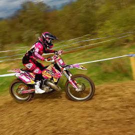 Pink lady by Michaela Firešová - Sports & Fitness Motorsports ( motorbike, pink, enduro )