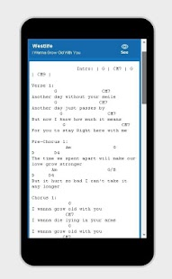 Guitar Lyrics Free App - screenshot