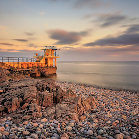 Salthill Galway by Ryszard Lomnicki - Landscapes Cloud Formations ( clouds, ireland, sunset, galway, long exposure, sunrise,  )