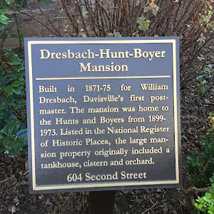 Dresbach-Hunt-Boyer Mansion Built in 1871-75 for William Dresbach, Davisville's first post- master. The mansion was home to the Hunts and Boyers from 1899- 1973. Listed in the National Register of ...