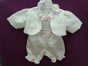 Christening Headband, Bloomers & Bolero