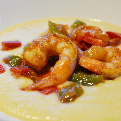 Cajun Shrimp with Creamy Polenta