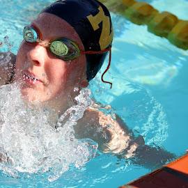 Swimming  by Alex Junge - Sports & Fitness Swimming ( water, splash, pool, swim, people, swimming )