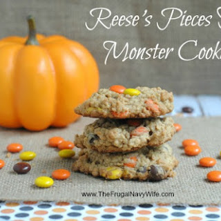 Reese's Pieces Fall Monster Cookies