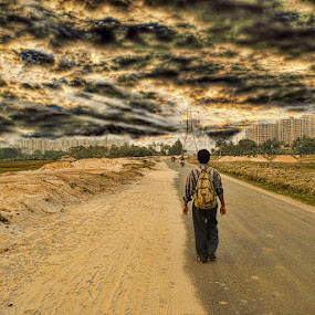Summer Calling  by Sagar Lahiri - Digital Art Places ( evening sagarlahiri, photoshop )