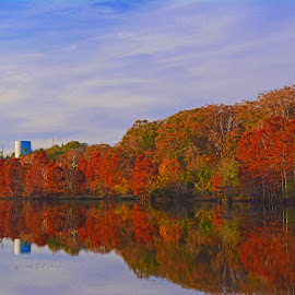 -----Oklahoma Fall Foliage------ by Neal Hatcher - Landscapes Mountains & Hills