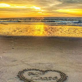 My love by Rob King - Uncategorized All Uncategorized ( love, sand, heart, ocean, beach )