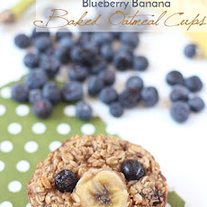 Blueberry Banana Baked Oatmeal Cups