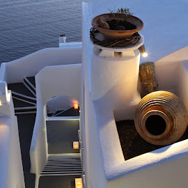 Santorini Style by Glyn Thomas Jones - Buildings & Architecture Other Exteriors ( stylish, white, buildings, traditional, architecture, santorini, island )