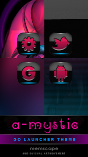 GO Launcher Theme A-MYSTIC - screenshot