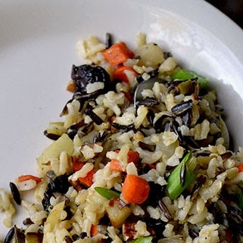 Wild Rice Salad with dried Cranberries and Pecans
