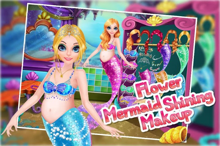 android Flower Mermaid Shining Makeup Screenshot 8