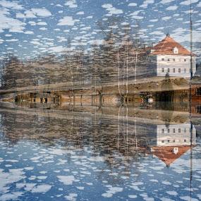 Fairy-tale castle... by Zenonas Meškauskas - Digital Art Places ( ice, snow, castle, fairy-tale, river )